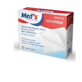 Garza Compressa Meds 12/8 18x40 Cm 12 Pezzi