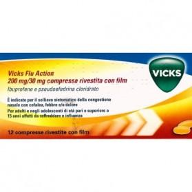 Vicks Flu Action 12 Compresse 200+30mg
