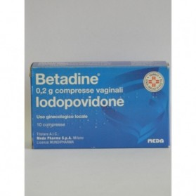 Betadine 10 Compresse Vaginale 200mg