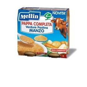 Mellin Pappa Completa Manzo 250 g 2 Pezzi