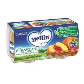 Mellin Omogeneizzato Pesca Mela 100 g 2 Pezzi