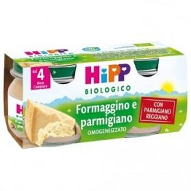 Hipp Biologico Omogeneizzato Formaggino E Parmigiano 80 g 2 Vasetti