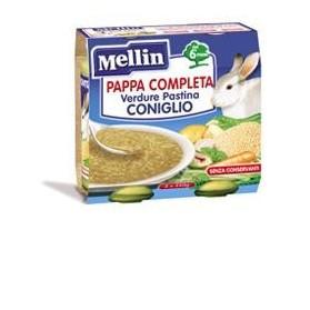 Mellin Pappa Completa Coniglio 250 g 2 Pezzi
