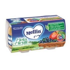 Mellin Omogeneizzato Mela Mirtillo 100 g 2 Pezzi
