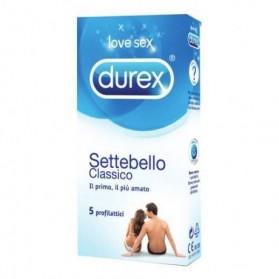 Profilattico Durex Settebello Classico 5 Pezzi