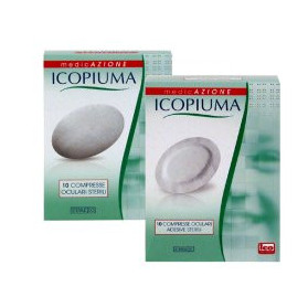 Icopiuma Garza Compressa Oculare Di Cotone 10 Pezzi