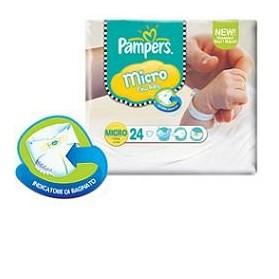 Pampers Micro Pannolini Per Bambini 24 Pezzi