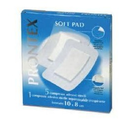Garza Compressa Prontex Soft Pad 10x8 Cm 6 Pezzi (5 Tnt + 1 Impermeabile Aqua Pad)
