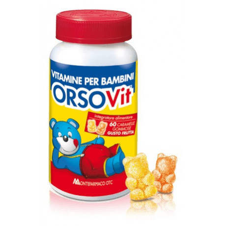 Orsovit Caramelle Gommose Vitamina Bambini Senza Glutine 60pz