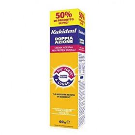 Kukident Doppia Azione Crema Adesiva Per Protesi Dentarie 60 g