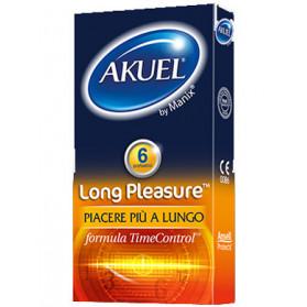 Profilattico Ansell Akuel By Manix Long Pleasure B 6 Pezzi