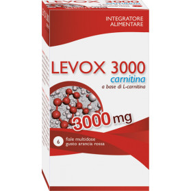 Levox 3000 Carnitina 6 Flaconcini Da 25 ml