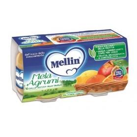 Mellin Omogeneizzato Mela Agrumi 100 g 2 Pezzi