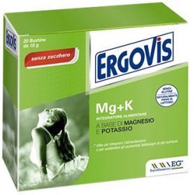 Ergovis Mg+k Senza Zucchero 20 Bustine 5g