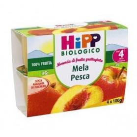 Hipp Biologico Frutta Grattugiata Mela Pesca 4 X 100 g