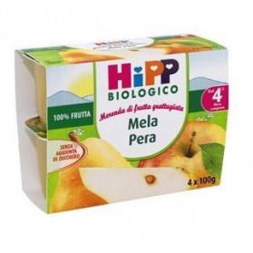 Hipp Biologico Frutta Grattugiata Mela Pera 4 X 100 g