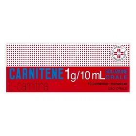 Carnitene Uso Orale 10 Flaconcino 1g Monodose
