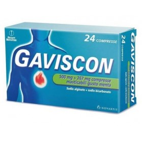 Gaviscon 24 Compresse Menta 500+267mg