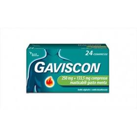 Gaviscon 24 Compresse Ment250+133,5mg