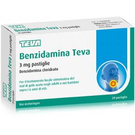 Benzidamina Teva 20 Pastiglie 3mg